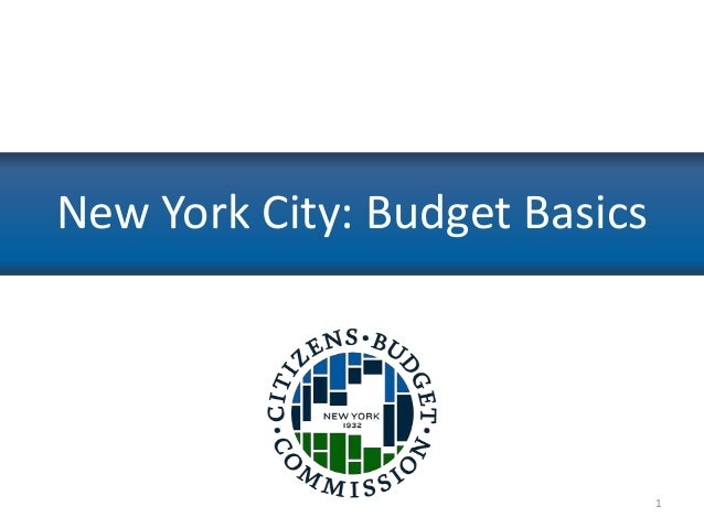 Event Presentation: How to Make a Budget