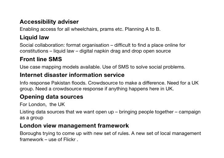 Accessibility adviser Enabling access for all wheelchairs, prams etc. Planning A to B.  Liquid law Social collaboration: f...