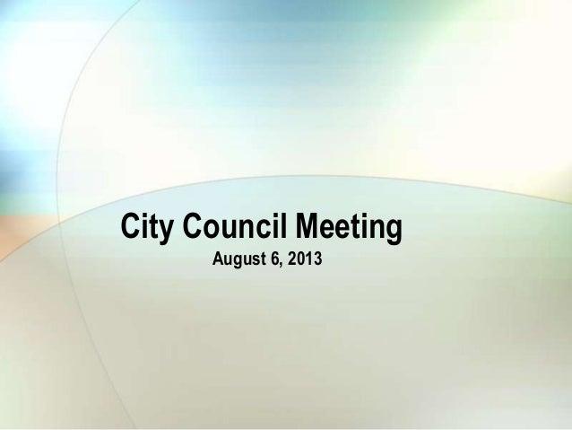 City council 8 6-13 ai 12 water  consumption range