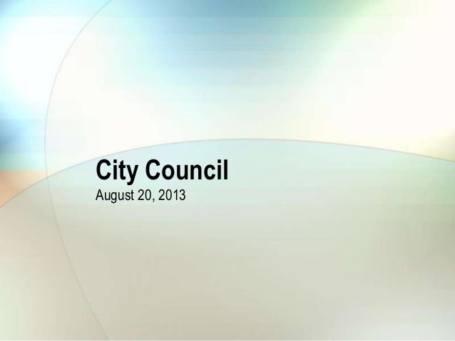 City council august 20, 2013 agenda item 12 budget ord intro