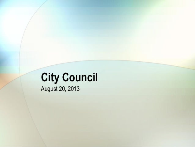 City Council August 20, 2013