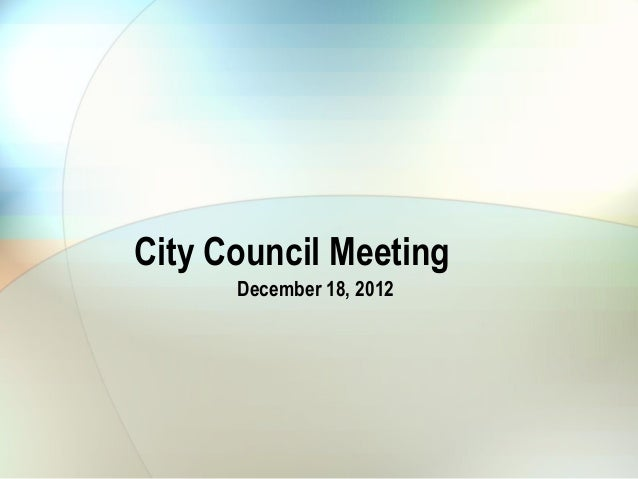 City council december 18, 2012 municipal services statement breakdown