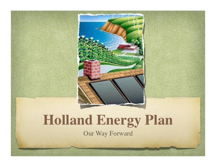 Presentation outlining City of Holland Energy Plan