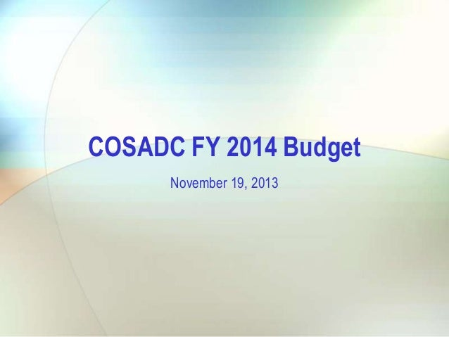 City council nov. 19, 2013    cosadc budget presentation 11-19-13