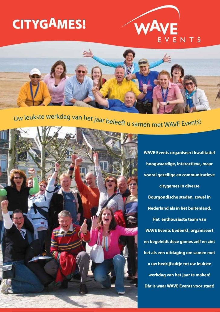 WAVE Events Citygame  Brochure
