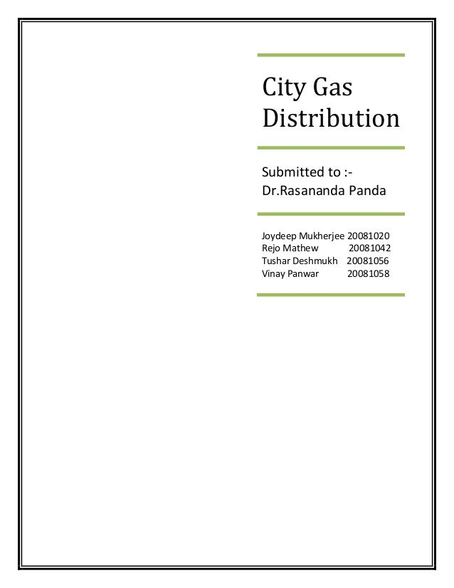 City Gas Distribution Dolat Report