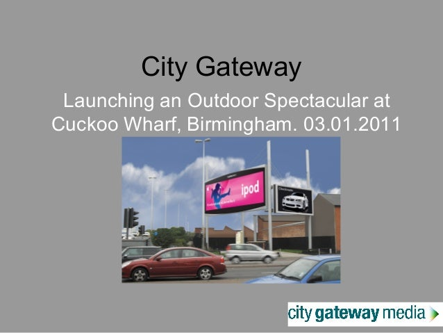City Gateway Launching an Outdoor Spectacular at Cuckoo Wharf, Birmingham. 03.01.2011