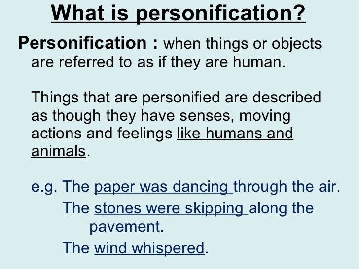 Personification Poems About Rain What is personification