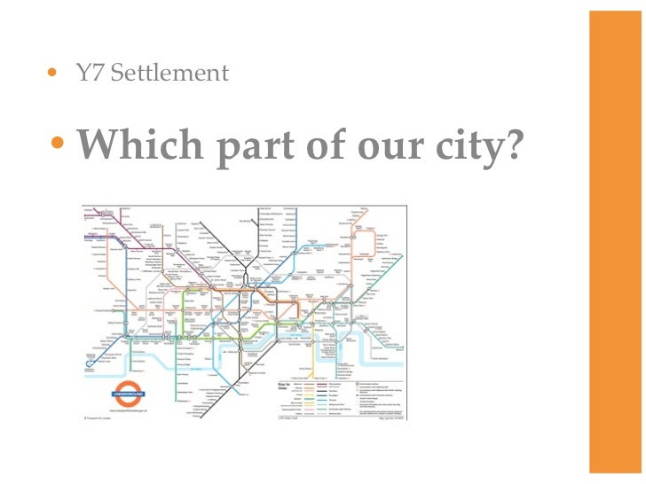 • Y7 Settlement• Which part of our city?