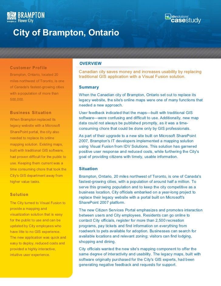 City of Brampton Case Study