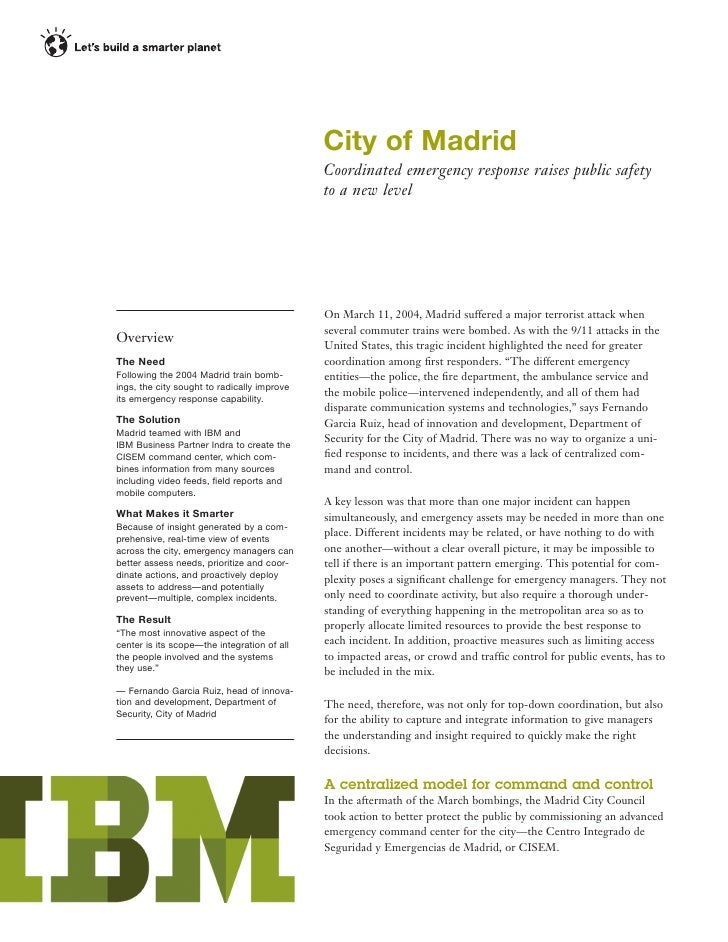 City of Madrid: Public Safety Technology Aids in Coordinated Emergency Response