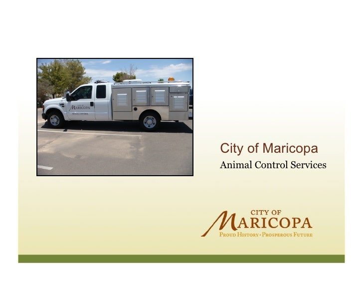 City of Maricopa Animal Control Services