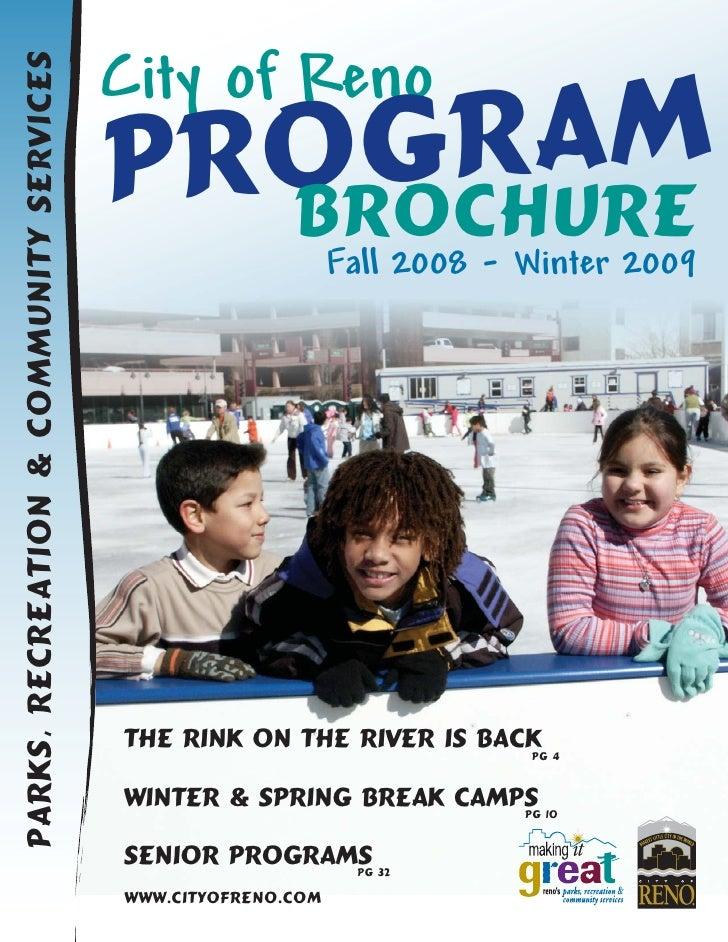 City Of Reno Fall Winter Program Brochure
