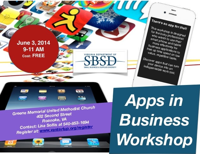 City of Roanoke Apps in Business Workshop, June 3, 2014
