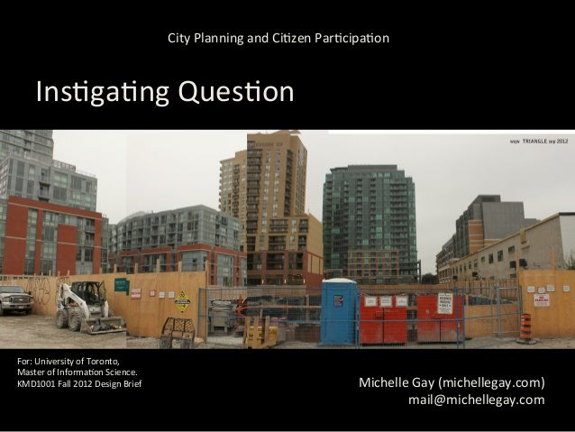 City Planning and Ci,zen Par,cipa,on       Ins,ga,ng Ques,on                   How do 'planning-‐ac,v...