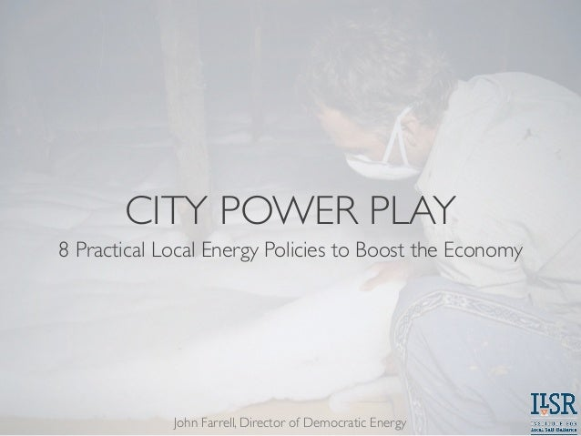 City Power Play: 8 Practical Local Energy Policies to Boost the Economy