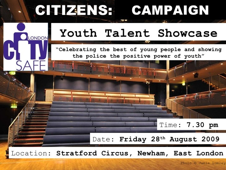 City Safe Youth Talent Showcase 28 08 09