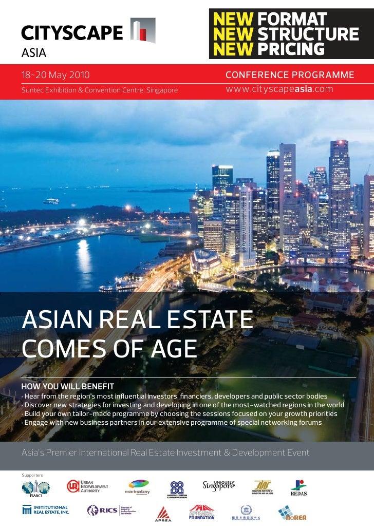 Cityscape Asia 2010 Conference Brochure
