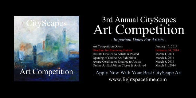 2014 Cityscapes Online Art Competition - Event Poster