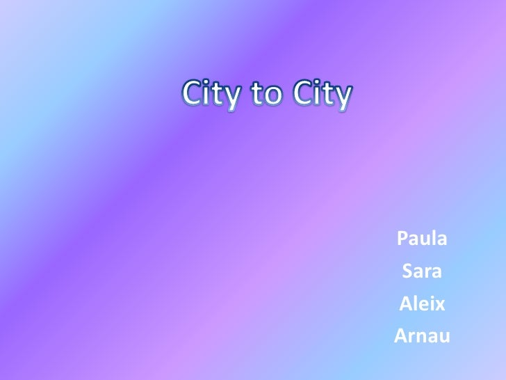 City to city grup 4