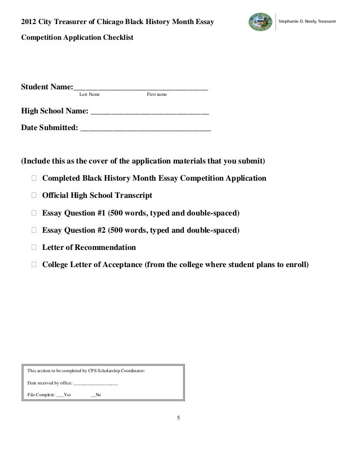 city treasurer    s black history month essay competition application  …      city treasurer of chicago black history month