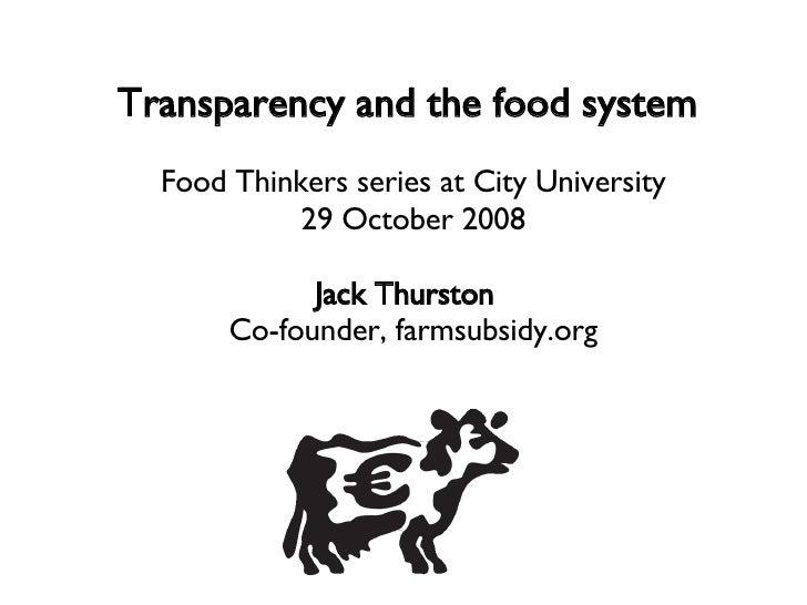 City University Food Thinkers