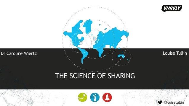 THE SCIENCE OF SHARING Dr Caroline Wiertz Louise Tullin @louisetullin