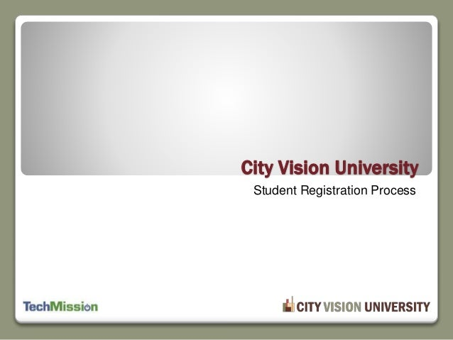 Student Registration Process City Vision University