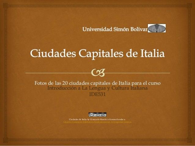 Ciudades capitales de italia