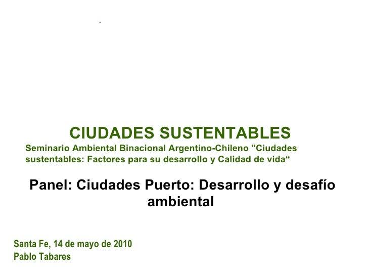 Presentación Lic. Pablo Tabares Fundación Hábitat y Desarrollo