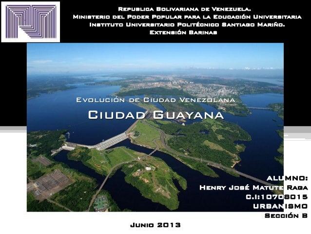 Ciudad venezonala ciudad guayana
