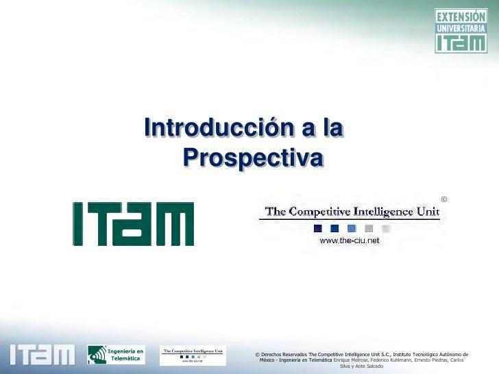 Introducción a la Prospectiva en Telecomunicaciones
