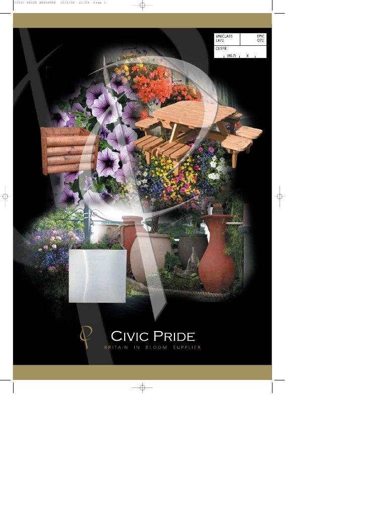 contents   Introducing Civic Pride - the Britain in Bloom Product Guide Introduction                                      ...
