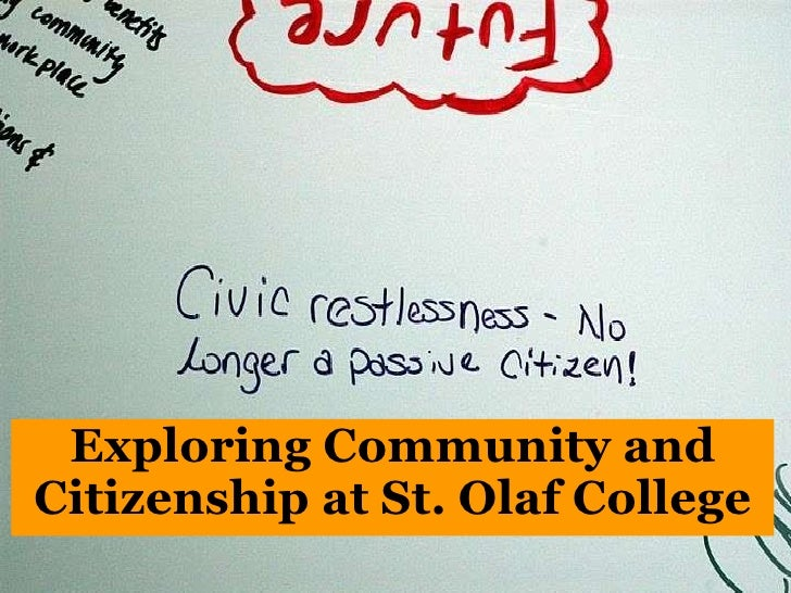 Exploring Community and Citizenship at St. Olaf College