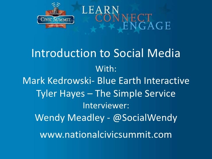 Civic Training - Introduction To Social Media - Wendy Meadley