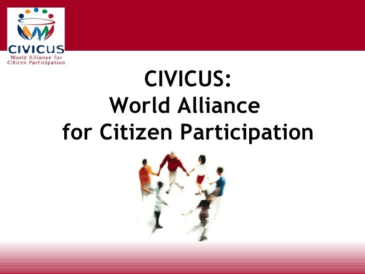 CIVICUS: World Alliance  for Citizen Participation