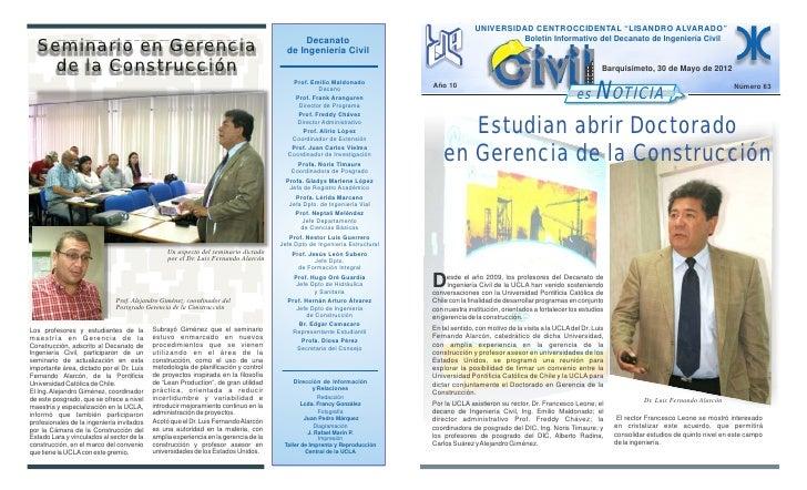 "UNIVERSIDAD CENTROCCIDENTAL ""LISANDRO ALVARADO""                                                                           ..."