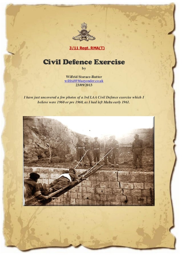 Royal Malta Artillery: Civil Defence exercise by Wilfrid Storace Rutter