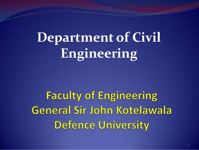 Department of Civil   Engineering                      1