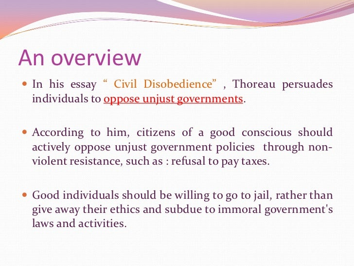 Essay on civil disobedience
