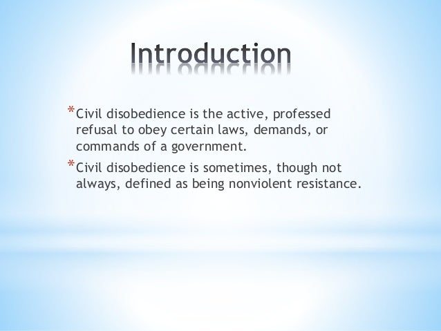 Civil disobedience essay examples