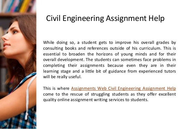 Civil engineering assignment help
