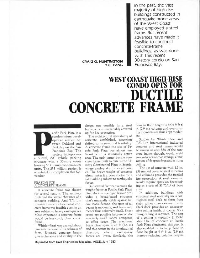 Civil Engineering Magazine ASCE Pacific Park Plaza