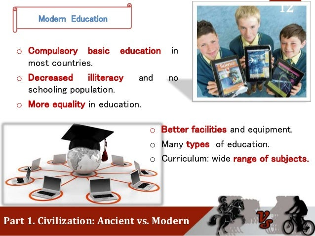 ancient times vs modern civilization A comparison between ancient egyptian and sumerian civilization of life in ancient time between ancient egyptian and sumerian civilizations.