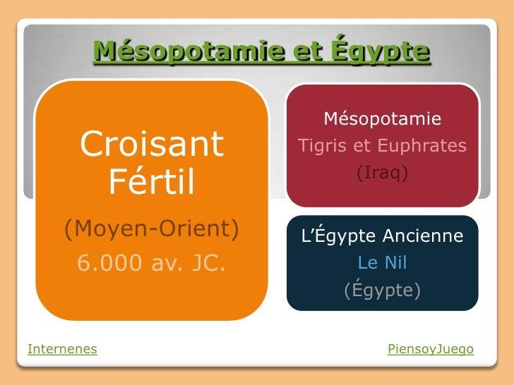Mésopotamie et Égypte                         Mésopotamie       Croisant        Tigris et Euphrates        Fértil         ...