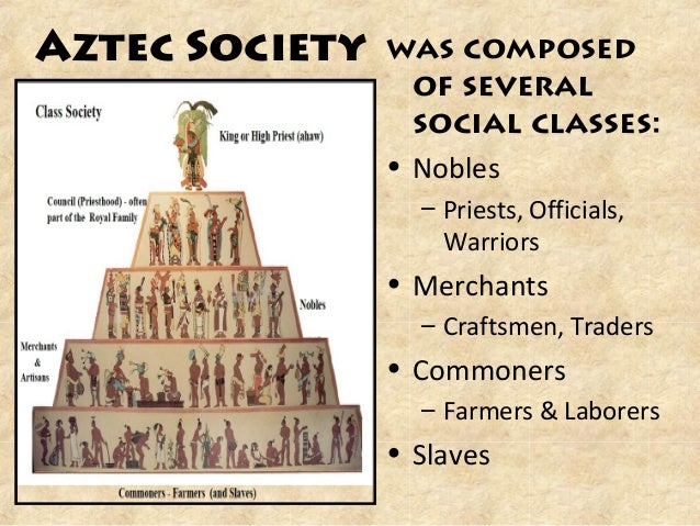 social structures of the aztecs Aztec political hierarchy structure follows a strict order of positions in the political system who were identified as nobles, commoners and slaves.
