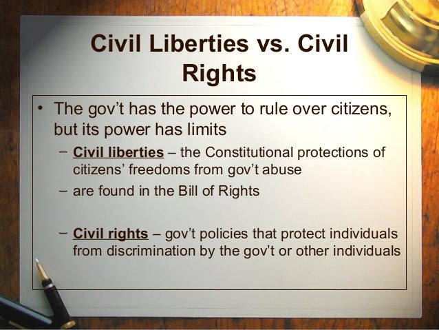 civil liberties vs civil rights essay Essays civil liberties vs national security: the enduring tension francis cardinal george, omi the tension between national security and civil liberties can best be illustrated by a.
