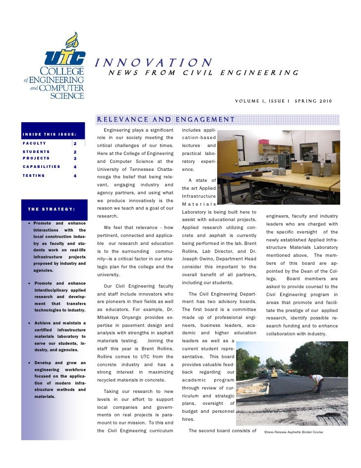 Civil Newsletter Vol 1 Issue 1 Final