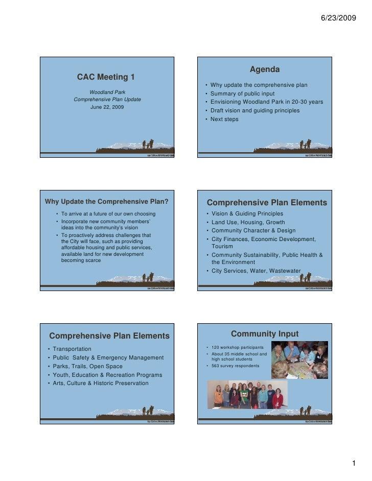 6/23/2009                                                                           Agenda              CAC Meeting 1     ...