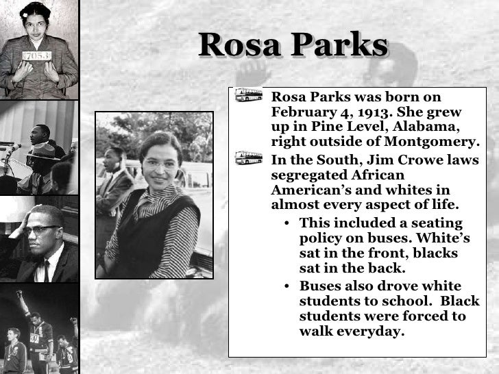 "a biography of rosa mccauly parks a civil rights activist The role of rosa parks in the history of the united states of america  the world  as the ""mother of the civil rights movement, rosa parks' courageous act on   born february 4, 1913, in tuskegee, alabama, rosa louise mccauley was the."